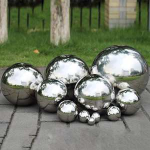 Ornament Decoration Mirror Sphere-Ball Stainless-Steel Garden Home Shine High-Brightness
