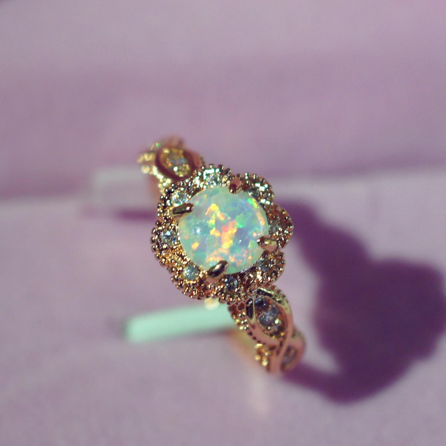 Sterling 925 Silber Opel Schließen Diamant Ringe für Frauen 14 K Rose Gold Modeschmuck Edelstein bague feine anelli donna argento