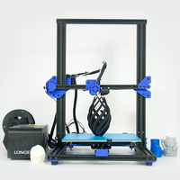 Longer LK1 Filament 3D Printer kit 2.8 inch LCD Screen 0.4mm diameter nozzle PLA/ABS Semi assembled 3d printer 300 x 300 x 400mm