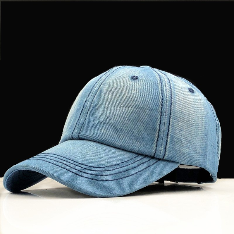 Baseball     Cap   Women Dad Snapback   Caps   Men Brand Homme Hats For Men Falt Bone Denim Jeans Blank Gorras Casquette Plain Dad   Cap   Hat