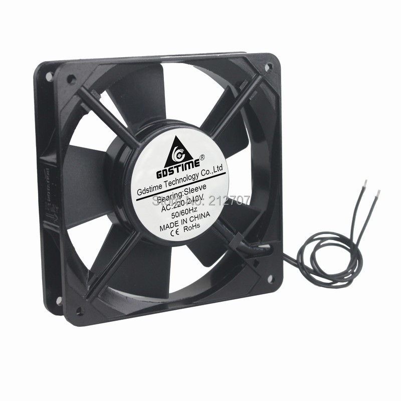10pcs/set AC 220v 240V 2wire 120mm 120x120x25mm Cooler Cooling Fan-in Fans & Cooling from Computer & Office    1