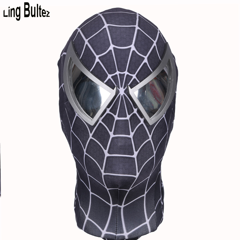 Ling Bultez High Quality Black Spiderman Mask With The Best Lens Fog Free Lenses Black Spider