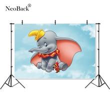 Fina vinilo nube cielo Dumbo ratón elefante niños bebé niños estudio de fotografía fondos profesional interior foto telón de fondo