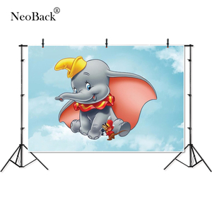 Image 1 - Thin Vinyl cloud sky Dumbo mouse elephant kids baby children Photography studio Backgrounds professional indoor Photo Backdrops