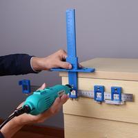 우드 홀 펀치 로케이터 지그 툴 센터 드릴 비트 가이드 세트 슬리브 캐비닛 하드웨어 로케이터 우드 드릴링 목공 도구|수공구 세트|도구 -