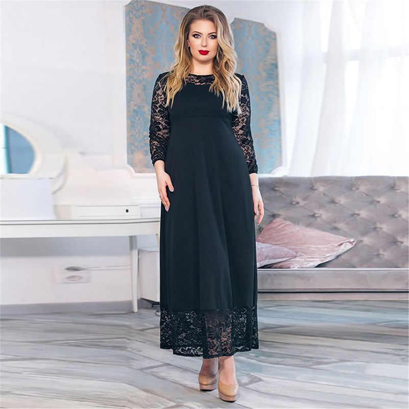 396e41d095c6 H Plus Size Maxi Dress Sexy Lace Long Dress Big Large Size Dresses Woman