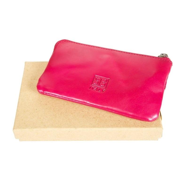 Key Wallets SergioBelotti 359L IRIDO fuxia genodern double zipper men wallets with phone bag vintage genuine leather clutch wallet male purses large capacity men s wallets