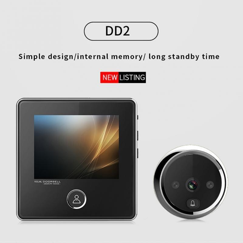 Electrónica inteligente puerta visor Digital puerta timbre Anti-robo WIFI timbre Visual del espectador del Peephole puerta ojo