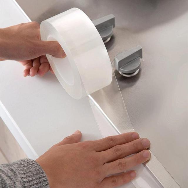 5cm 주방 싱크 방수 곰팡이 투명 테이프 자체 접착 나노 테이프 싱크 갭 화장실 코너 라인 씰 스트립 스티커