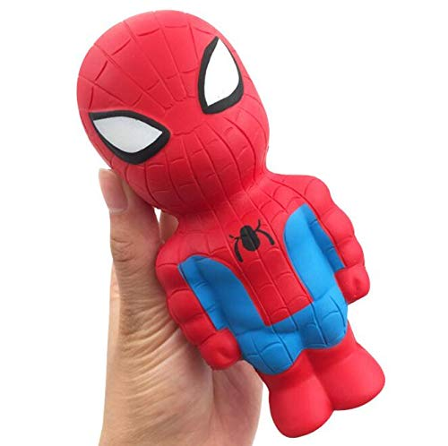 Super Hero Squishy Slow Rising Iron Man Spiderman Squishies Toy Simulation Antistress Funny Gadgets Toys For Chidren #YC