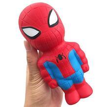 Super héroe Squishy Slow rising Iron Man Spiderman Squishies juguete simulación antiestrés Juguetes Divertidos para Niños # YC