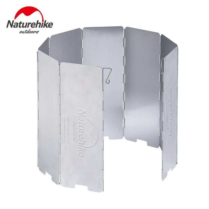 Naturehike 8 Plates Camping Stove Windscreen Foldable Gas Cookers Wind Deflectors Camping Cooker Gas Stove Wind Shield Equipment