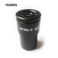 WF30X/9 하이 아이 포인트 아이피스 와이드 필드 뷰 스테레오 현미경 또는 생물 현미경 용 안구 광학 렌즈 30X WF30X