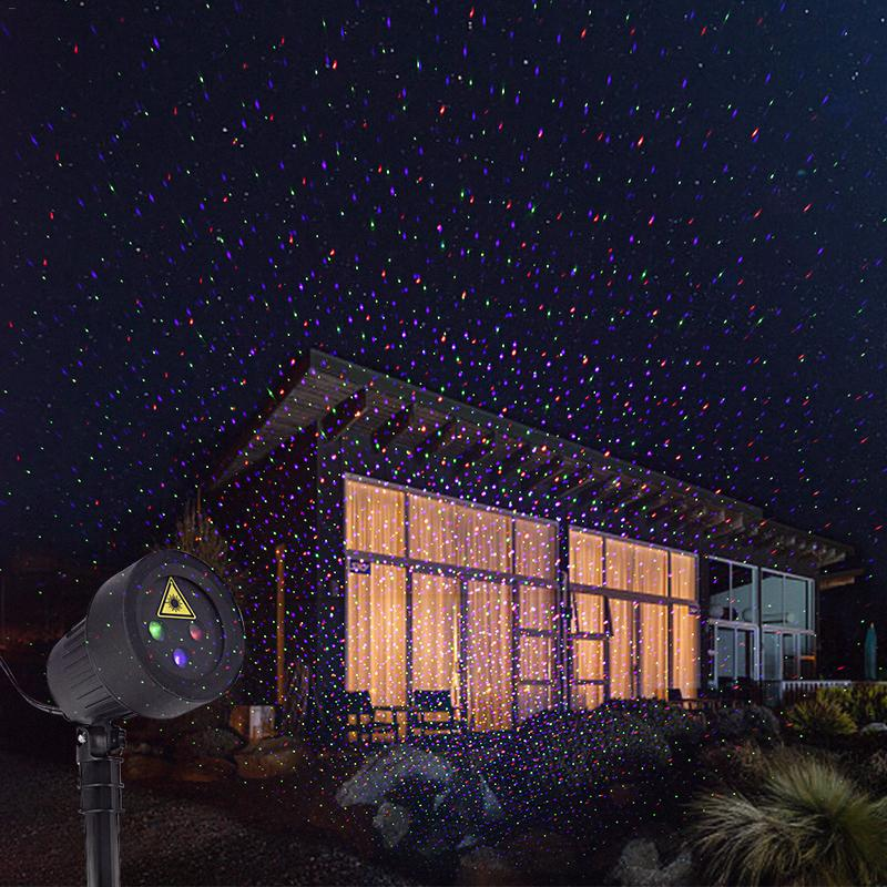 Christmas RF Remote Control RGB Static Starry Laser Outdoor Light DJ LED Stage Light Party Lights Garden Lamp Outdoor Lighting in Stage Lighting Effect from Lights Lighting