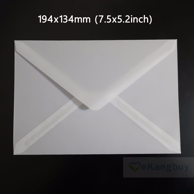 Image 5 - 50pcs Translucent Blank White Parchment Paper Envelope Postcards Invitations Cover Envelopes-in Paper Envelopes from Office & School Supplies