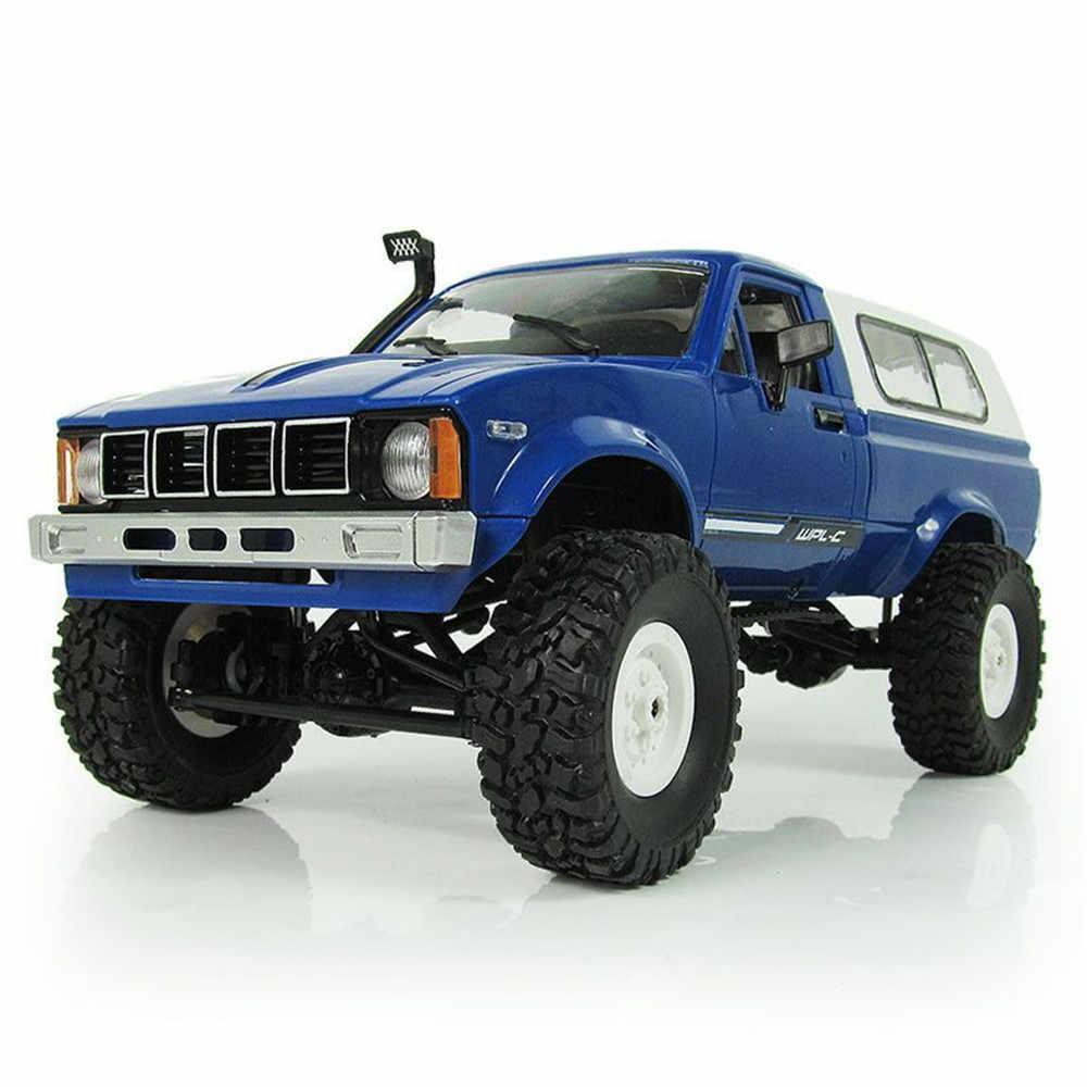 WPL C-24 1/16 4WD 2.4G Militaire Truck Buggy Crawler Off Road RC Auto Klaar te gaan 2CH RTR Speelgoed & Zender Kids Geschenken