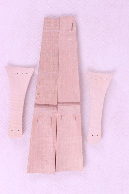 New 4/4 2pcs maple violin tailpiece violin fingerboard parts Baroque style #E11
