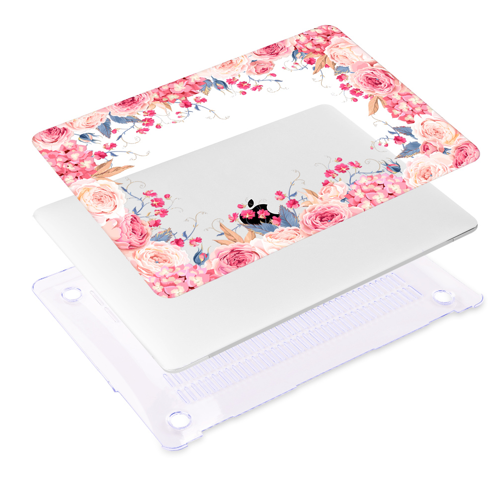 Redlai New Air 13 inch Case A1932 2019 Pro 13 15 Touch bar Floral Print Hard Case Shell For MacBook 12 quot Old Air Pro Retina 13 15 in Laptop Bags amp Cases from Computer amp Office