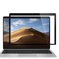 Bolha livre protetor de tela lcd com moldura preta para novo macbook ar 13 com exibição retina 2018 lançado a1932|  -