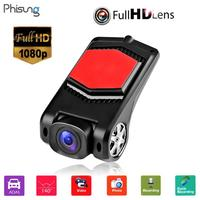 Phisung 70 Hidden Type Cam Driving Video Recorder 1080p HD 140 Degree USB Car DVR Camera ADAS USB Dash Auto Camcorder With APK