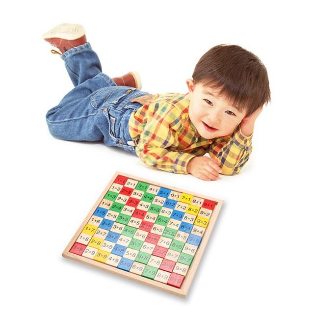 Montessori Educational Wooden Math Dominoes Multiplication Table Double Side Printed Board Kids Child Educational Toy For Kids