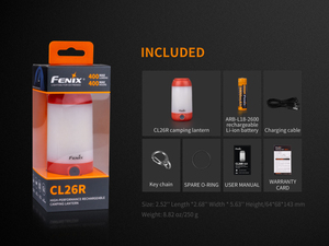 Image 3 - 2019 novo fenix cl26r micro usb recarregável 18650 anti reflexo acampamento lanterna equipamento lâmpada max 400lm