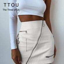 2eb5fd61f Promoción de Mini Skirt White Sexy Leather - Compra Mini Skirt White ...