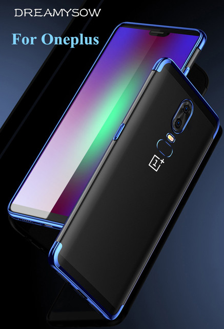 Luxury Soft Laser Plating Phone Case For One Plus 5T A5010 6T Clear ultra thin Protective Cover For OnePlus 5 6 5T 6T Cases capa