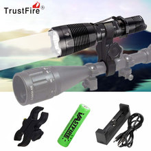 цены 1000Lm LED Tactical Flashlight Airsoft Rifle Scope Mount Hunting Camping Torch +18650 Battery+USB Charger+Mount