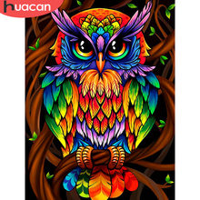 HUACAN Owl Diamond Painting Full Square Animals Diamond Embroidery Sale Pictures With Rhinestones Home Decoration(China)