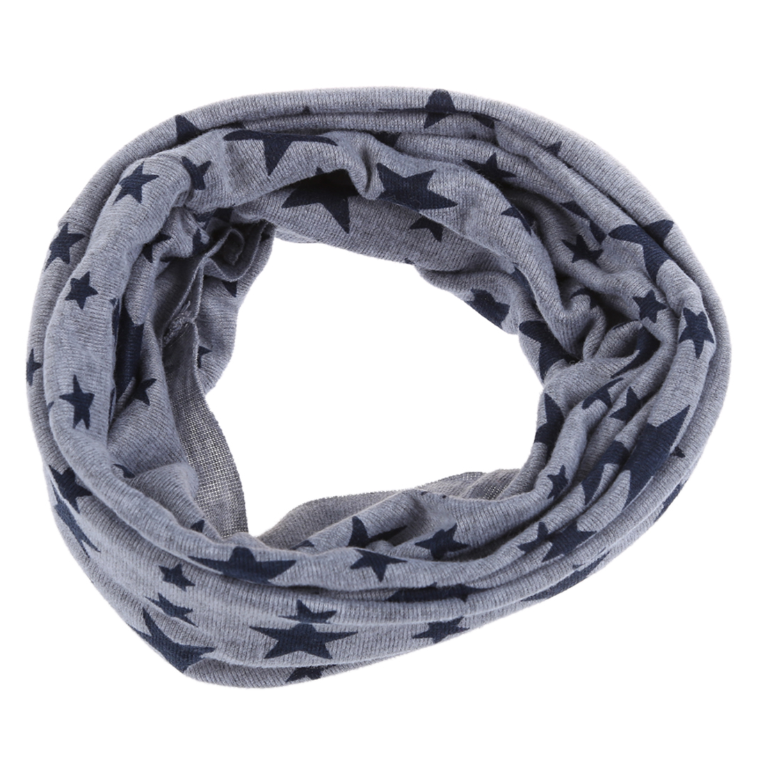 Unisex Babies Loop Wraps Five-pointed Star Knitted Wraps Winter Shawl Snood Neck Warmer Gray