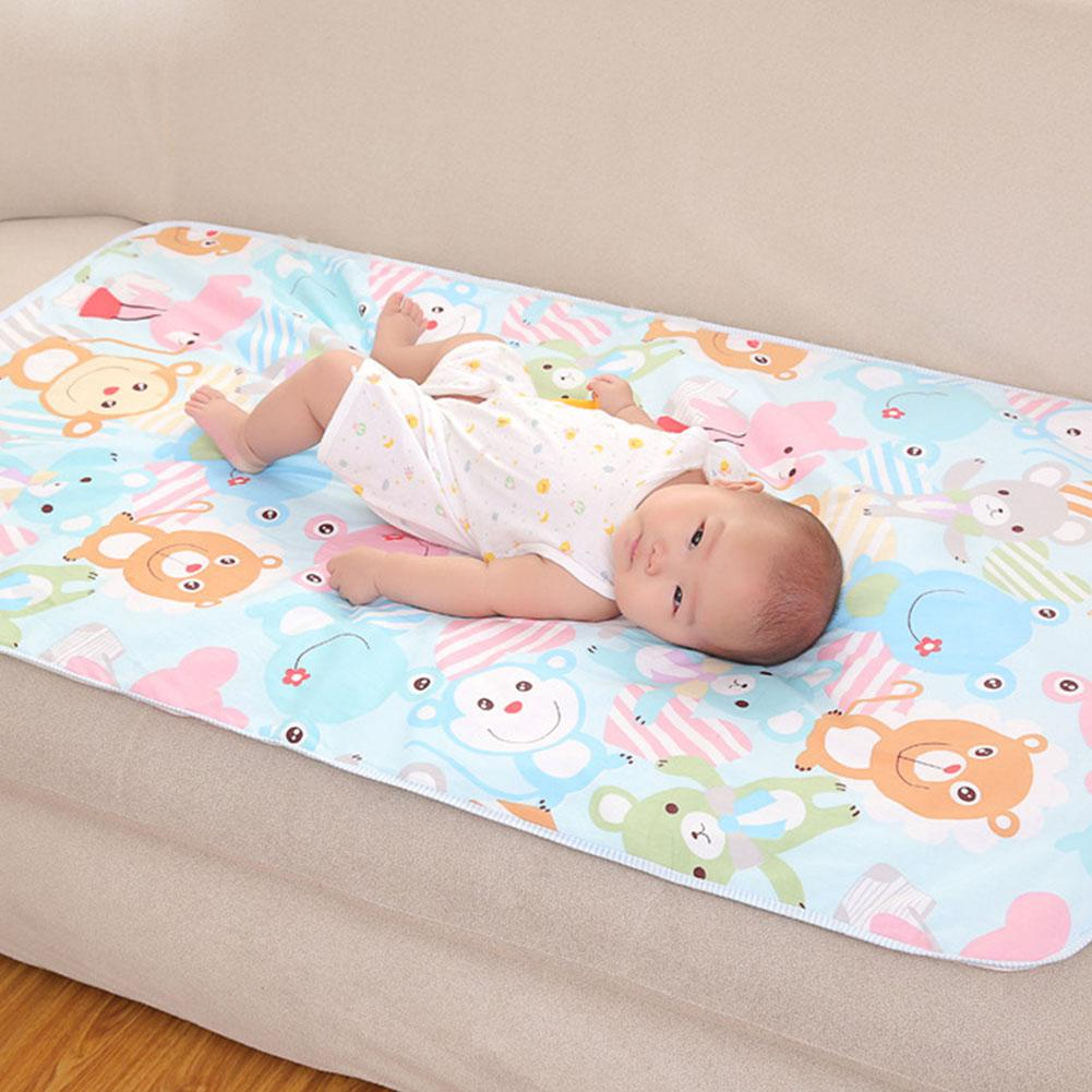 Kidlove 60x90 Baby Diapers Changing Mat Cartoon Pattern Cotton Waterproof Sheet Baby Changing Pad