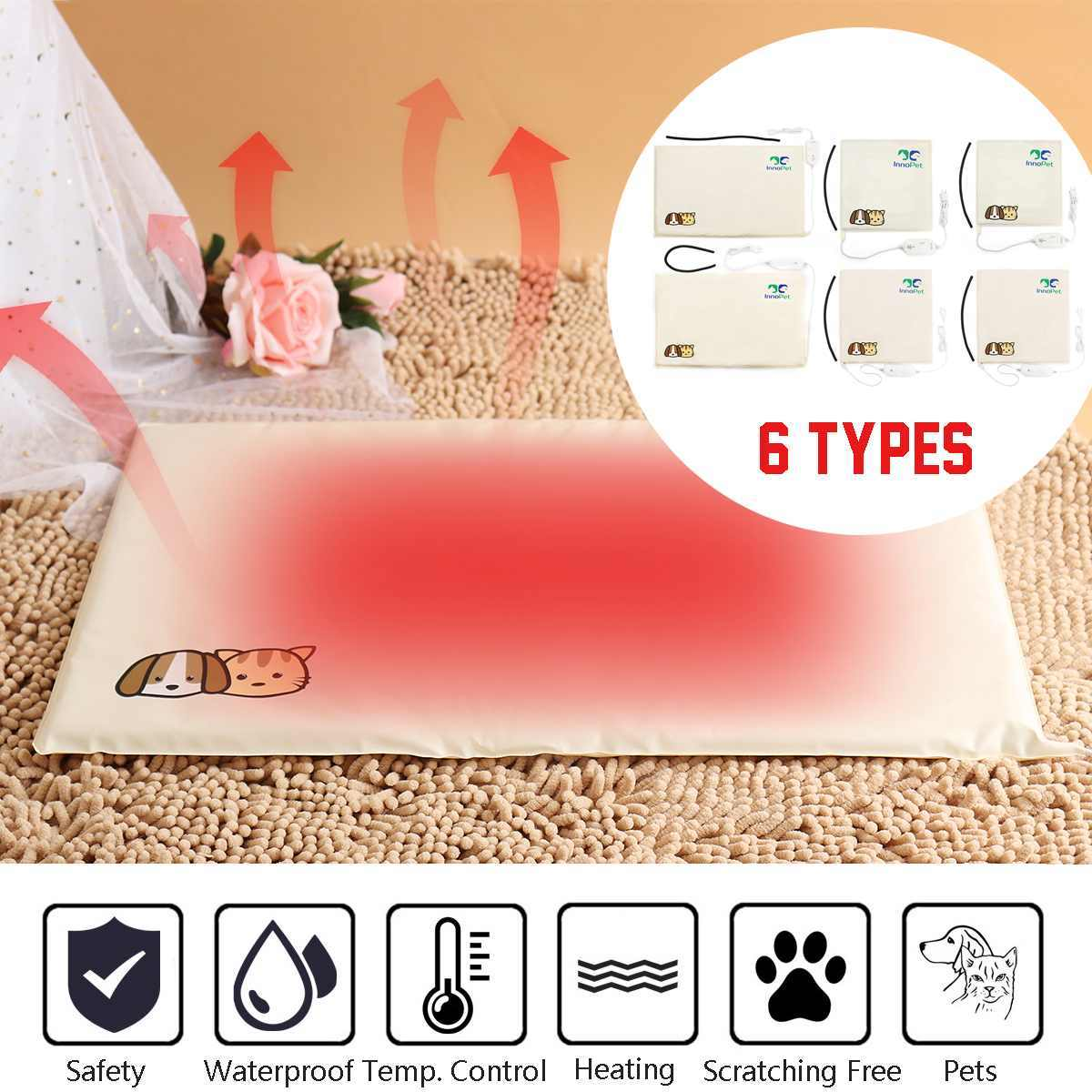 Waterproof 220V 20W/30W/35W 3/10 Gear S/M/L Waterproof Electric Pets Dogs Cats Heating Pad Blanket Warmer Bed Mat Cotton Home