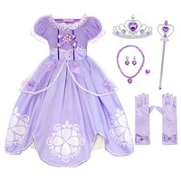 AmzBarley Baby Girl Clothes Kids Sofia Princess Cosplay Costumes Dresses Children Birthday party Dress Up Halloween Outfits