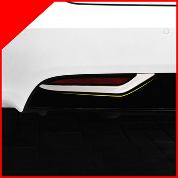 Exterior Rear Fog Light Lamp Stripe Decorative Trims 2 pieces /set stainless steel For Tesla Model S Car Accessor