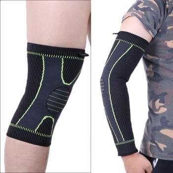 1pc Elastic Sports Body Support Belt Fitness Running Outdoors Guards Protectors Compression Knee Pad