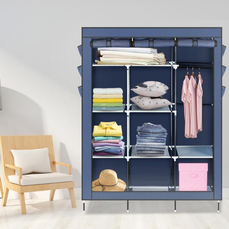 Bedroom Wardrobe Non-woven Fabric Assembled Cloth Wardrobe Portable Storage Clothes Cabinet Clothes Organizer Home Furniture