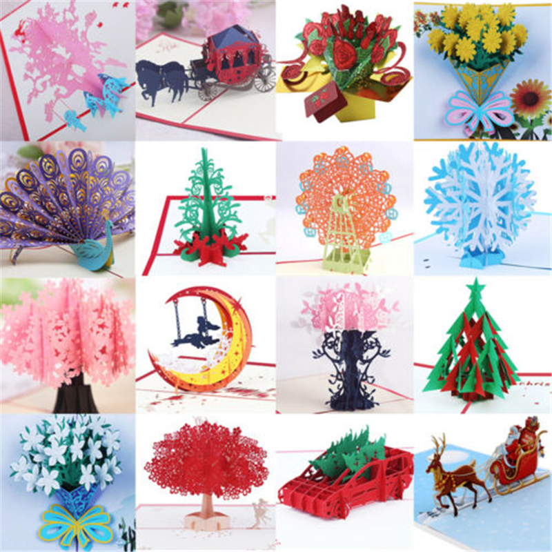 Awesome Multi Patterns 3D Pop Up Greeting Cards Birthday Valentine Funny Birthday Cards Online Inifofree Goldxyz