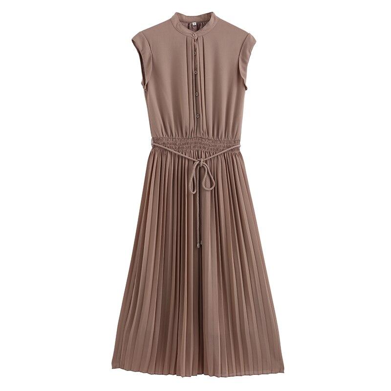 New Fashion Maxi Dress Women's Elegant Tunic Sundress Dress Boho Beach Button Front A Line Shirt Chiffon Vestido De Festa Dress