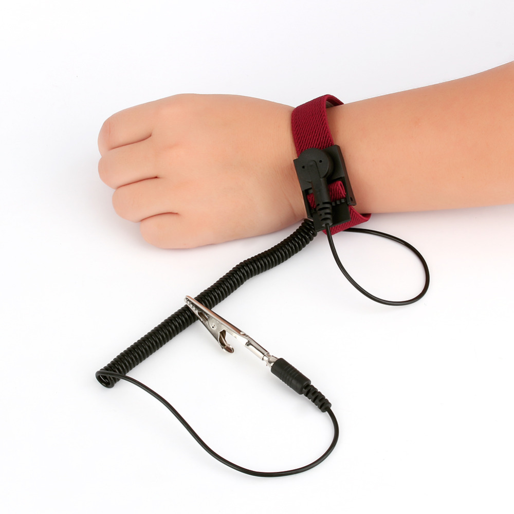 High Quality 1pc Anti Static Adjustable Wrist Strap Band Ground Bracelet High Quality