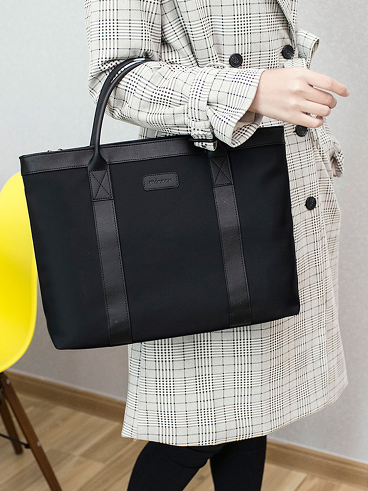 2019 Portable File Bag A4 Zipper Bag Waterproof  Computer Bag Men And Women Business Office Meeting Bag Information Briefcase