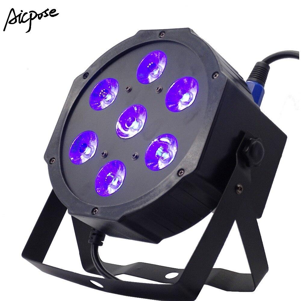 Led Par Can 7x12W Led Par Lights RGBW 4in1 /RGBWA UV 6in1 Flat Par Led Dmx512 Disco Lights Wedding Small Dj Stage