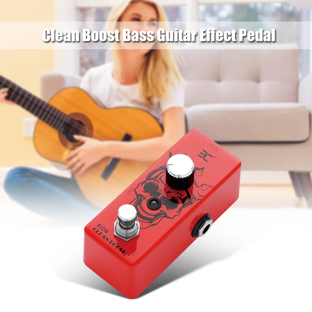 buy eno ex ecb guitar effect pedal clean boost bass guitar pedal full metal. Black Bedroom Furniture Sets. Home Design Ideas