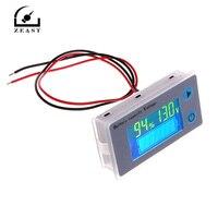 ZEAST JS-C33 10-100 в универсальный ЖК-дисплей автомобиля свинцово-кислотная литиевых батарея ёмкость индикатор цифровой вольтметр напряжение...