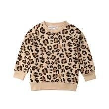 Футболка с леопардовым принтом и кроликом для маленьких мальчиков и девочек 1-7 лет, толстовки, одежда