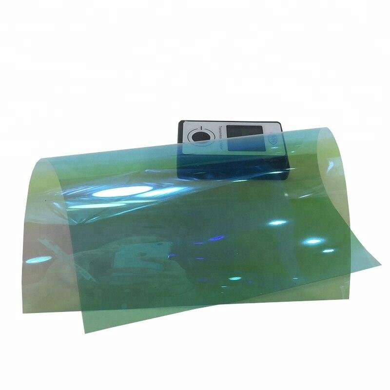 50 cm X 300 cm bonne qualité corée matériel caméléon fenêtre solaire lumière bleu voiture teinte film