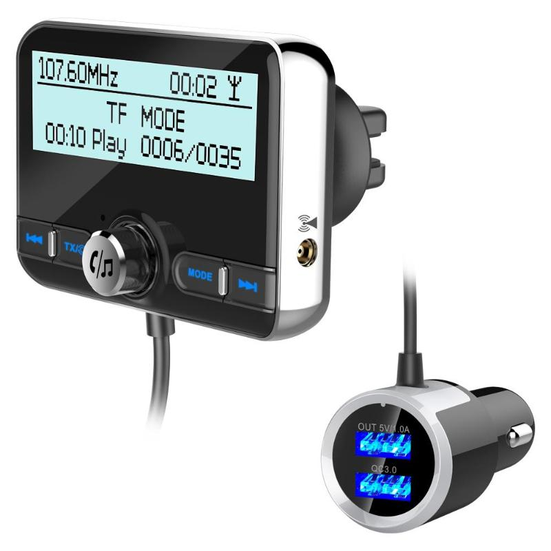 VODOOL Fast Charging DAB002 Durable Car Digital Audio Broadcast Adapter Bluetooth 4.2 Car Electronics Accessories FM Transmitter