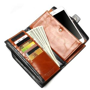 Image 3 - 2020 New Design Fashion Multifunctional Purse Genuine Leather Wallet Women Long Style Cowhide Purse Wholesale And Retail Bag