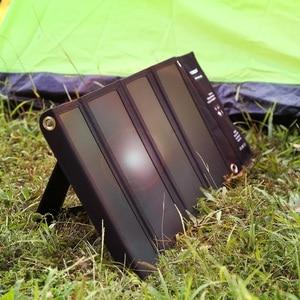 Image 4 - FLOUREON Waterproof Foldable 28W Solar USB Charger Solar Panel Sun Light Energy Phone Charging Triple 3 USB Ports for Outdoors