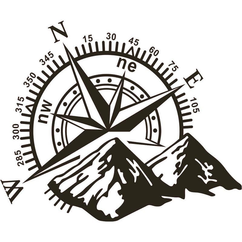 3D High Quality Universal Car Sticker Compass Rose Navigate Mountain Offroad Vinyl Decal No Fading Waterproof Dustproof 1pcs